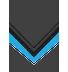 Abstract blue arrow direction overlap on grey vector