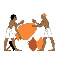 Ancient egypt ceramists vector