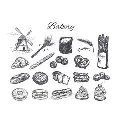 bakery shop set vector image