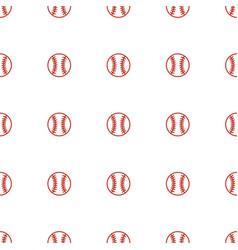Baseball icon pattern seamless white background vector