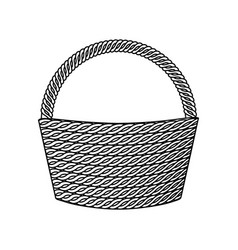 basket empty isolated icon vector image