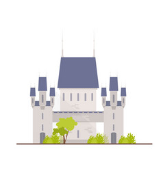 Beautiful medieval castle fortress citadel or vector