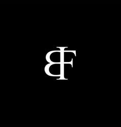 Bf letter mark monogram logo icon vector