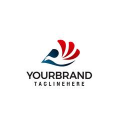 bird logo design concept template vector image