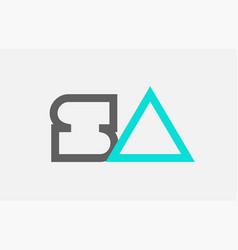 Blue grey alphabet letter sa s a combination vector