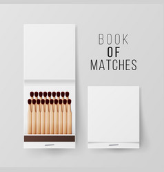 Book of matches top view closed opened vector
