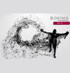 Boxer silhouette from particles vector