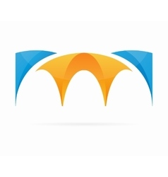 Bridge logo symbol concept vector