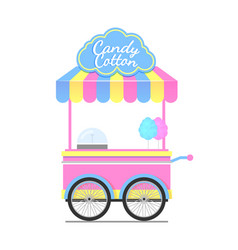 Candy cotton wagon colorful vector