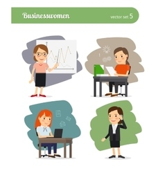 Cartoon businesswoman vector