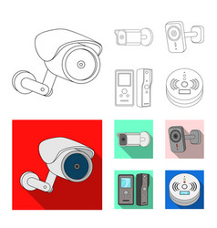 Cctv and camera sign vector