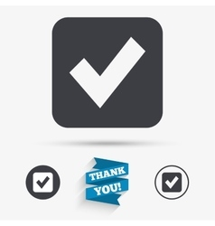 Check mark sign icon Checkbox button vector image