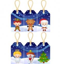 Christmas gift tags vector