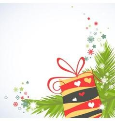 Christmas gifts corner decoration vector