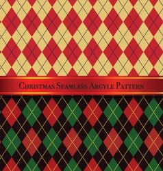 Christmas Seamless Argyle Pattern Design Set 2 vector image