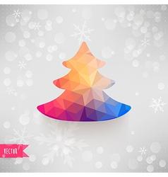 Christmas tree made of triangles Christmas and New vector image