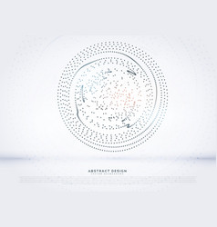 Circular dots mesh background vector