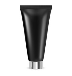 cream tube black container vector image
