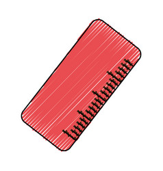 Cute ruler cartoon vector