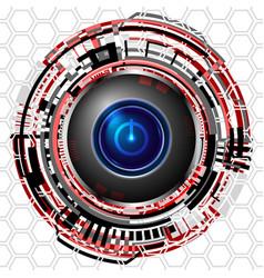 cyber digital power icon vector image