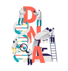 Dna spiral medical equipment typography banner vector