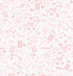 Doodle seamless love pattern vector image