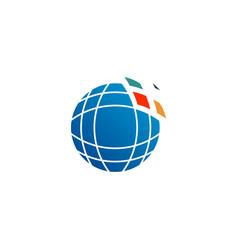 education graduate logo icon isolated elements vector image