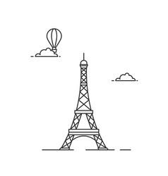 eiffel tower illutsration vector image