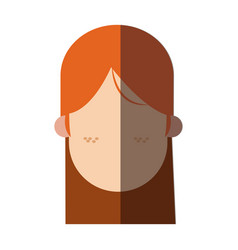 Faceless head girl freckles people image vector