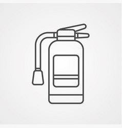fire extinguisher icon sign symbol vector image