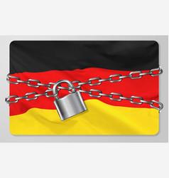Flag federal republic germany vector