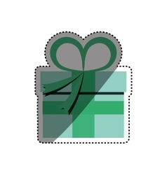 Gift present box vector