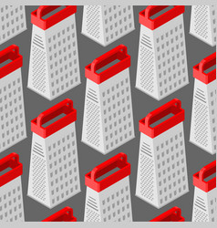 grater seamless pattern kitchen appliances for vector image