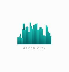 Green city building template design logo vector