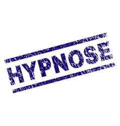 Grunge textured hypnose stamp seal vector