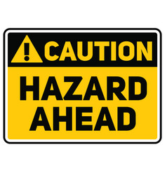 Hazard ahead sign vector