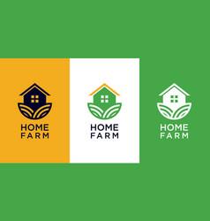 home farm logo design vector image