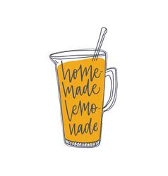 Homemade lemonade inscription or phrase vector