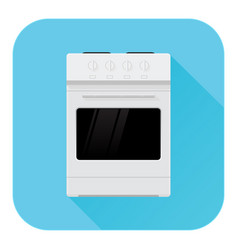 kitchen stove domestic freestanding cooker flat vector image
