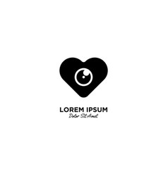 Love camera logo icon vector