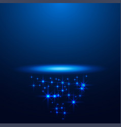 magic blue stage background for your business vector image