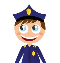 man agent police character avatar vector image