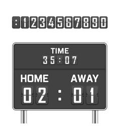Mechanical score board vector