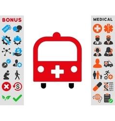 Medical Bus Icon vector