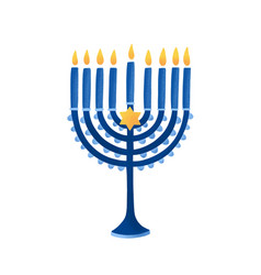 menorah with david star vector image