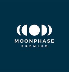 moon phase cycle logo icon vector image