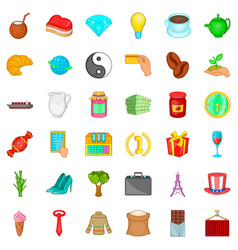 mug icons set cartoon style vector image