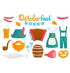 oktoberfest bavarian festival traditional german vector image