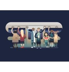 Onlookers passengers in trasport vector