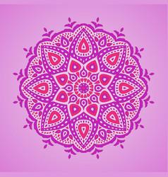 ornamental mandala vector image